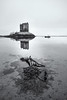 Castle Stalker (roseysnapper) Tags: blackandwhite bw seaweed reflection castle monochrome scotland boat castlestalker sigma1020 abigfave canoneos40d