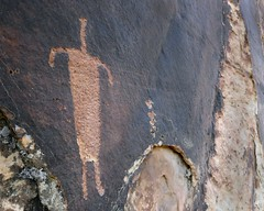Petroglyph at Shay Canyon (Ron Wolf) Tags: archaeology utah fremont nativeamerican petroglyph anthropology rockart blm anthropomorph anthromorph shaycanyon