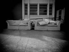 Conjoined Part 2 (Bart D. Frescura) Tags: blackandwhite bw shadows cement couch bayarea lightandshadow bdf couches lightanddark bartdfrescura couchcompulsion