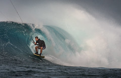Kitesurfing P-Pass (Warriorwriter) Tags: blue water surf waves board surfing fsm watersports splash micronesia pohnpei palikir
