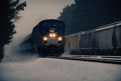 120 Departing Staples Mill Station (PLFotografix) Tags: city railroad light snow train canon river paul photography virginia daylight photographer natural rail railway richmond amtrak va choo rails blizzard ledford rva photog tuckahoe 2016 henrico