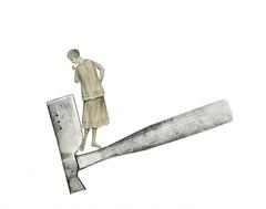 Lizzie (dadadreams (Michelle Lanter)) Tags: collage collageart axe murder ax lizzieborden darkart murderess