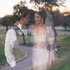 Ben & Alyssa (Brian Doore) Tags: trees wedding portrait reflection window portraits groom bride couple bokeh availablelight romantic fujifilm xt1 naturallightportrait vsco vscofilm xf35mm