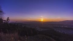 Sunset in Kyoto (Art Fiveone) Tags: sunset japan landscape timelapse twilight kyoto nightshot wide 京都 夕陽 日本 nightview 夜景 ワイド 15mm 風景 voigtländer genie 4k 大文字山 mtdaimonji syrp タイムラプス