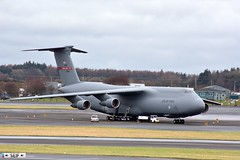 Lockheed C-5  Galaxy 70043 Prestwick Glasgow 2016 (seifracing) Tags: rescue cars scotland europe traffic britain glasgow transport scottish police security vehicles galaxy british trucks emergency lockheed polizei spotting recovery strathclyde c5 prestwick brigade ecosse 2016 70043 seifracing