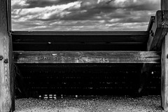Defaced Defence (Number Johnny 5) Tags: wood sea urban blackandwhite bw white black beach monochrome graffiti nikon noir decay great norfolk d750 yarmouth tamron gorleston defence defaced vandalised grotty 2470mm grot