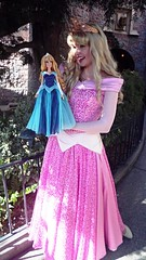 Aurora and Her Diamond Celebration Doll (BeautifulToyReviews) Tags: sleeping castle beauty outdoors doll princess anniversary disneyland character parks disney diamond celebration aurora limited edition 60th deboxed