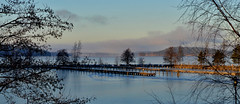 Lake at the end of December (L.Lahtinen) Tags: blue winter lake ice water suomi finland landscape pier maisema jrvi vesijrvi jrvimaisema