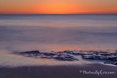 Calm Before The Dawn (KAM918) Tags: ocean new winter sky sun seascape color beach weather sunrise dawn nikon rocks long exposure newhampshire nh hampshire calm atlantic nd hampton d610