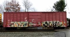 harsh - goul '08 (timetomakethepasta) Tags: train graffiti boxcar sws freight rumor harsh fs eec wh goul a2m brizo