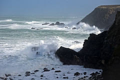 Navax Point during Storm Imogen 8 Feb 2016 (Bob.Bee) Tags: ocean uk sea storm coast cornwall surf waves wind cliffs spray coastal godrevy roughsea heavywinds navaxpoint stormimogen