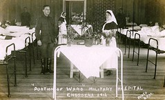 Portion of Ward, Military Hospital, Enoggera, Brisbane, Qld - 1916 (Aussie~mobs) Tags: ward military hospital enoggera brisbane queensland australia ww1 1916 nurse patients beds army soldiers wounded aussiemobs