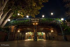 POTC Entrance Night Shot (Domtabon) Tags: california disneyland disney dl dlr piratesofthecaribbean potc disneylandresort neworleanssq mousewait