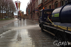 Schoon, Heel en Veilig (Qdraw.nl foto's) Tags: street water den denbosch bosch straten schoon spuitwagen