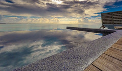 Reflections over the pool (Massimo Buccolieri) Tags: ocean blue sea summer vacation sky house seascape beach nature water clouds silver relax island sand paradise resort exotic tropical maldives atoll watervillas gopro hero4