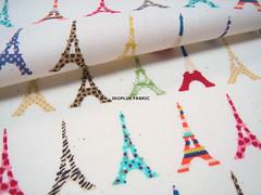 Sale - Colorful Eiffel Tower Line with Shimmer in Beige -- EK-QS38266 (ikoplus) Tags: tower japan glitter japanese drops fantastic beige colorful with sale label eiffel pop retro line made lovely shimmer zakka ikoplusfabric ekqs38266