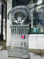 02.13.16-207 (Lisa/Alex's doll) Tags: street sculpture irish bunny ice hat festival store doll handmade pennsylvania ooak main crochet barbie move made pa celtic winterfest tokidoki stroudsburg fitzpatricks