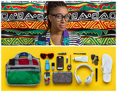 Tomeka Diptych (J Trav) Tags: atlanta portrait persona diptych whatsinyourbag theitemswecarry everydayessentials showusthecontentsofyourbag thingsorganizedneatly