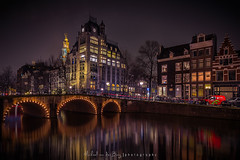 Astoria Amsterdam (mvdburg1971) Tags: holland reflection netherlands amsterdam nederland astoria grachten keizersgracht leliegracht
