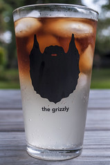 243/365 dark&stormy (sullivanj487) Tags: light summer sunlight ice cup contrast beard nikon drink gradient 365 grizzly d5000