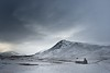 The house in a Glen. (RomImage) Tags: old uk winter cloud white house mountain snow mountains weather landscape scotland ancient nikon rocks europe alone dale 85mm scottish nobody valley mysterious nikkor wintertime impressive isolated harsh snowscape d800 isolate heavycloud harshweather
