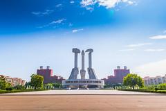 Monument to Party Founding (reubenteo) Tags: sunset building sunrise landscape asia korea communist communism kimjongil socialist socialism northkorea pyongyang kimilsung kimjongun