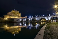 Castel Sant'Angelo (Francisco Esteve Herrero) Tags: italy roma río puente italia tiber nocturna castillo castel castelsantangelo 2016 franciscoesteveherrero nikond5300