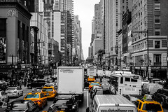 New York City Rush Hour (SKSpotting) Tags: new york city building truck town downtown live taxi rush hour infrastructure