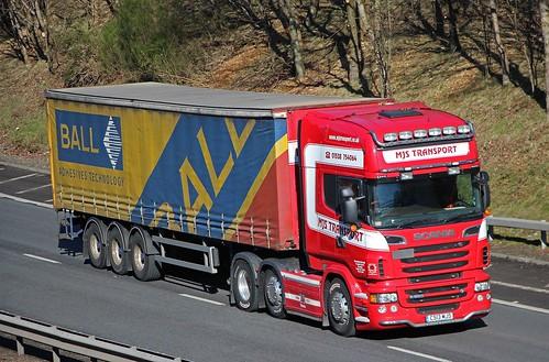 SCANIA R560 V8 - MJS TRANSPORT Cheadle Stoke-on-Trent Staffs.