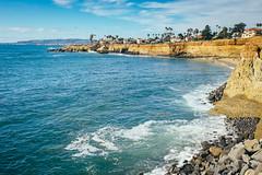 Calm waters near Sunset Cliffs (bradleysiefert) Tags: ocean california trip travel cliff rock coast us unitedstates sandiego sunsetcliffs 2015 summerjourneys