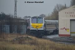 206 at Inchicore, 2/4/16 (hurricanemk1c) Tags: dublin irish train gm 206 rail railway trains enterprise railways irishrail 201 generalmotors inchicore 2016 emd iarnród éireann iarnródéireann