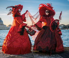 Stunning Models in Red (Kayla Stevenson) Tags: venice costume model piazza sangiorgiomaggiore theresiasturm