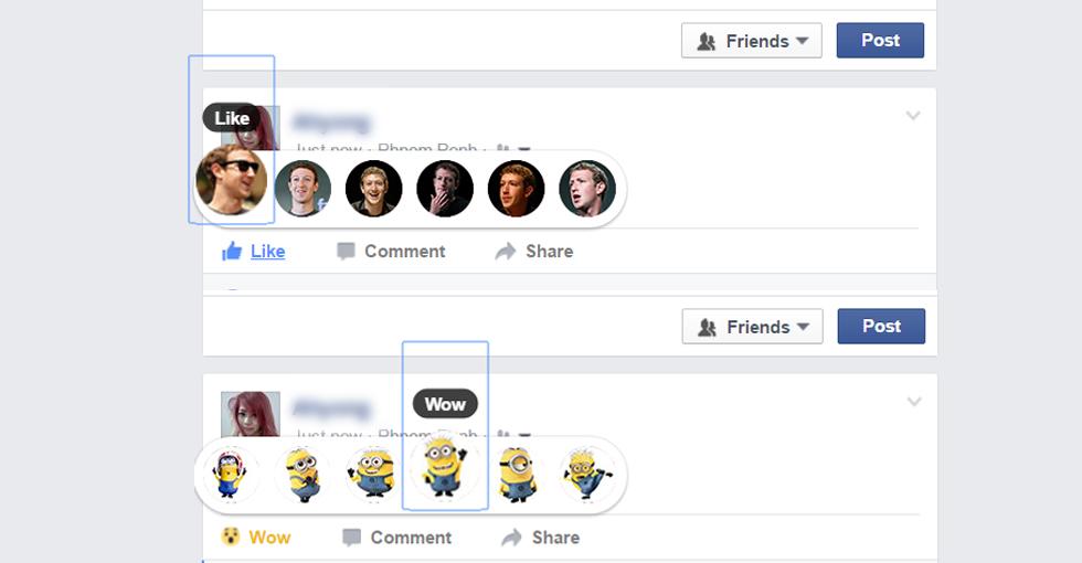 ផ្លាស់ប្តូរ Emoji របស់ Facebook ជារូបតុក្កតា Minion ឬរូបមនុស្សល្បីៗផ្សេងៗ ក្នុងពិភពលោកលើ Browser