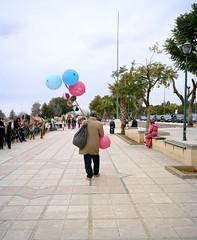 Balloon Peddler, Meknes, Morocco (Luke Notsoblack) Tags: street film mediumformat balloons kodak morocco meknes portra400 mamiya7