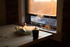 Evening Incense (myles.tan) Tags: sunset brick window pine table smoke banana incense