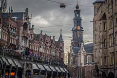 Westerkerk Toren (farflungistan) Tags: city holland amsterdam cityscape meetup toren nederland photowalk darkclouds jordaan westerkerk