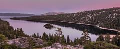 Emerald Bay (PasiKaunisto) Tags: california sunset lake snow mountains nature landscape twilight laketahoe