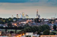London skyline (Joe Dunckley) Tags: city uk england urban london skyline skyscraper twilight cityscape dusk suburbia suburbs southlondon wandsworth cityoflondon tooting theshard