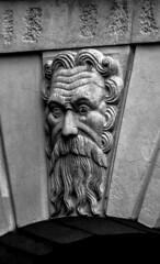 il vecio (stefano bertelli) Tags: arte brescia vecchio scultura faccia marmo broletto