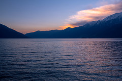 Sunset (petia.balabanova) Tags: travel sunset sky sun lake nature water colors landscape lago switzerland ascona tramonto cielo traveling svizzera acqua paesaggio montains 1735mm nikond800