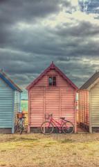 Beach Huts at Mersea Island [Explored] (nigdawphotography) Tags: summer sun holiday reflection beach coast seaside seasons beachhut essex beachhuts mersea