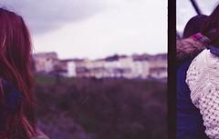 duplicated (Stephanie Overton) Tags: portrait england people film 35mm bristol fun person view pentax dorset mistake freinds brigde cliffton