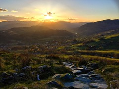 Sunset Over Ambleside (Marc Sayce) Tags: park lake green countryside district national cumbria pike ambleside wansfell