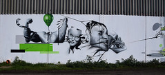 Cajou (HBA_JIJO) Tags: portrait urban woman streetart france bird art animal wall painting skull graffiti crane snake spray peinture mur 76 cajou hbajijo