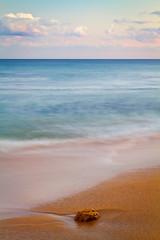 Pastel sea (Trace Connolly) Tags: ocean longexposure blue sunset sea seascape beach rock canon landscape coast pastel australia victoria timeexposure beaches greatoceanroad torquay janjuc blueseas seascene canon7d