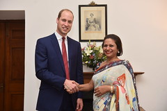 The Duke and Duchess of Cambridge in New Delhi (UK in India) Tags: india bhutan buckinghampalace airline monday shipping newdelhi hisroyalhighness thedukeofcambridge britishhighcommissionertoindia sirdominicasquithkcmg 11april2016 1016april2016 royalvisitindia royalvisitbhutan