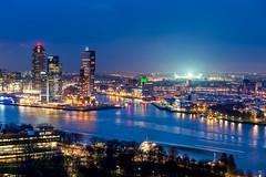 Skyline Rotterdam - de Kuip (Lbfoot) Tags: skyline rotterdam nikon nederland bluehour kopvanzuid euromast feyenoord zuidholland kuip dekuip rijnhaven skylinerotterdam nikond600 havenstad nederlandvandaag