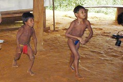 Embera Indian Boys, Jungles of Panama (Joseph Hollick) Tags: jungle panama embera emberaindians