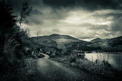 Path on the hill (M Johnstone Photography) Tags: travel white mountain black monochrome landscape scotland highlands dramatic scottish hills loch blacknwhite drama trossachs lochgoilhead
