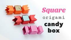 Square Origami Candy Box Tutorial DIY (paperkawaii) Tags: diy video origami instructions how tutorial papercraft youtube paperkawaii